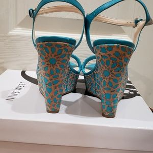 Nine West Shoes - Beautiful Teal Sandles